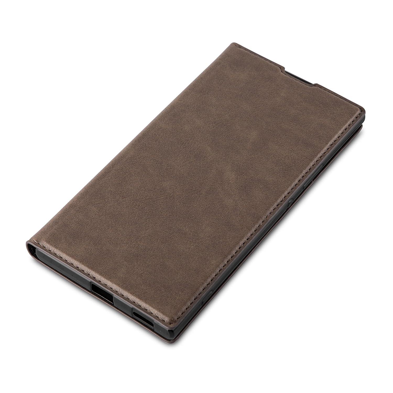 Stand Horizontal et Fente Carte Portefeuille Etui Poche Folio Case Cover Cadorabo Coque pour Sony Xperia XA en Rouge DE Pomme Housse Protection avec Fermoire Magn/étique