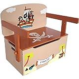 Bebe Style 3 en 1 Coffre à Jouet Table + Chaise Pirate