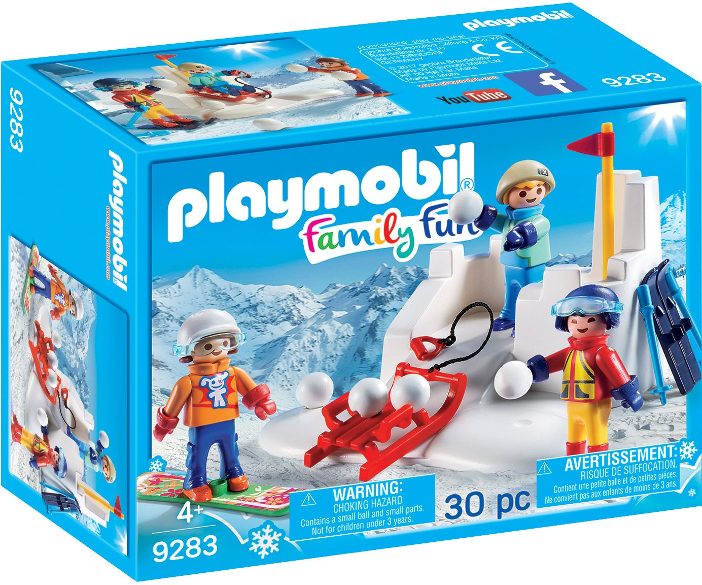 amazoncom playmobil snowball fight building set toys games - Playmobil Ski