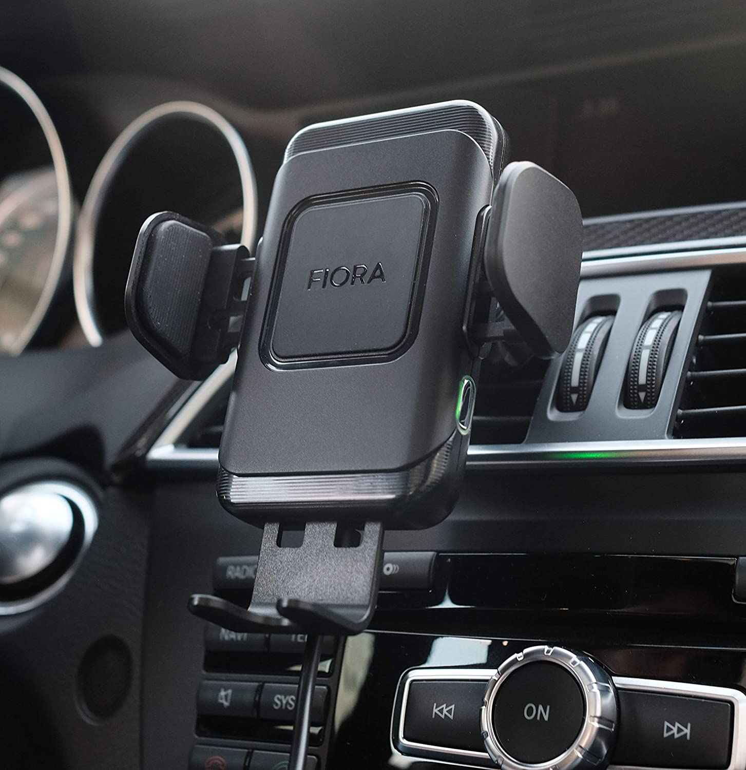 LG ULTIMATE Wireless Car Charger by Fiora 15W Qi Wireless Fast Charge QC 3.0 Adapter Automatic Clamping Phone Mount Holder Compatible iPhone XS Max//XS//XR//X//8//8 Plus Samsung Galaxy Note 9//S10//S9//S8 Titanium Grey