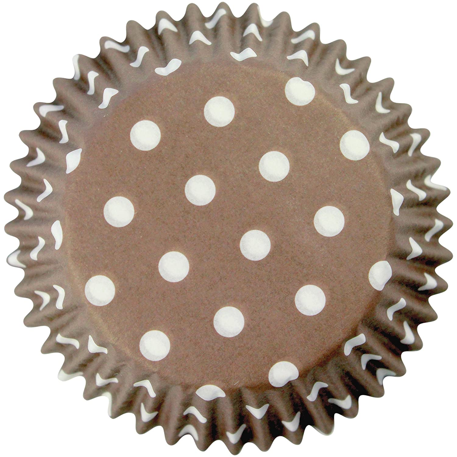 PME Brown Polka Dots Paper Baking Cases for Cupcakes, Standard Size, Pack of 60 Knightsbridge PME BC732