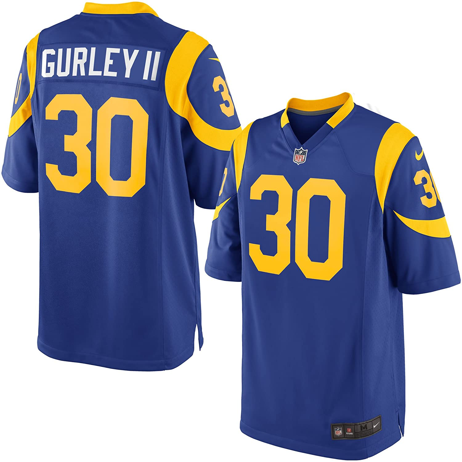a98ca7ea3ee Amazon.com: NIKE Todd Gurley II Los Angeles Rams Throwback Alternate Royal  Blue Game Jersey - Men's 2XL (XXL): Clothing