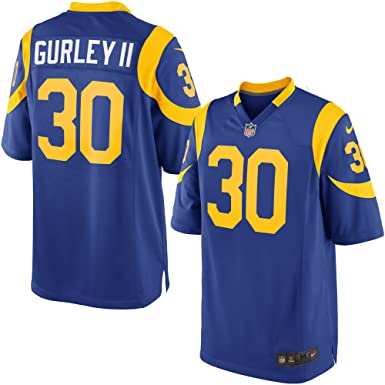 1dfa8b9d7 Image Unavailable. Image not available for. Color: NIKE Todd Gurley II Los  Angeles Rams Throwback Alternate Royal Blue Game Jersey - Men's 2XL