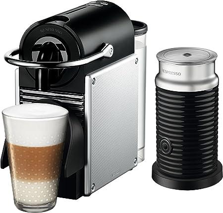 Nespresso EN125SAE Original Espresso Machine Bundle with Aeroccino Milk Frother by De Longhi, 2.3, Aluminum