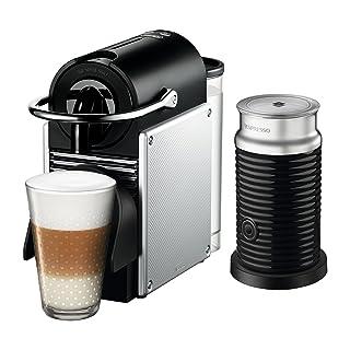 Nespresso by De'Longhi EN124SAE Original Espresso Machine Bundle with Aeroccino Milk Frother by De'Longhi, 2.3, Aluminum