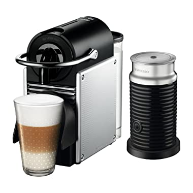 Nespresso by De'Longhi EN125SAE Original Espresso Machine Bundle with Aeroccino Milk Frother, Aluminum