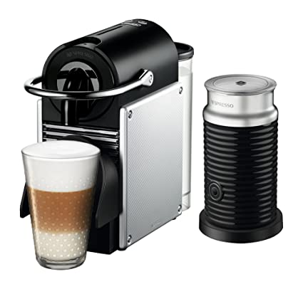 Nespresso Pixie Espresso Machine by DeLonghi with Aeroccino, Aluminum