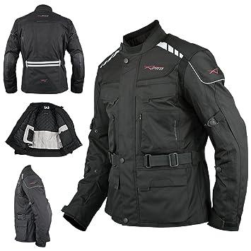 A-Pro Moto Chaqueta Roller textil – Chaleco térmico Agua Densidad Touring negro XL