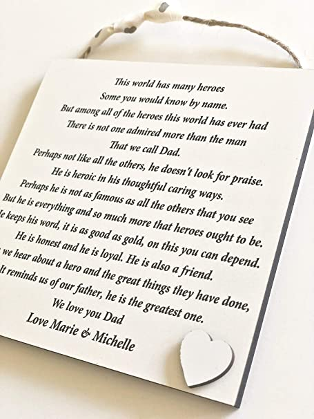 Gifts for HIM MEN PERSONALISED Birthday Poem Gifts for DADDY DAD GRANDAD