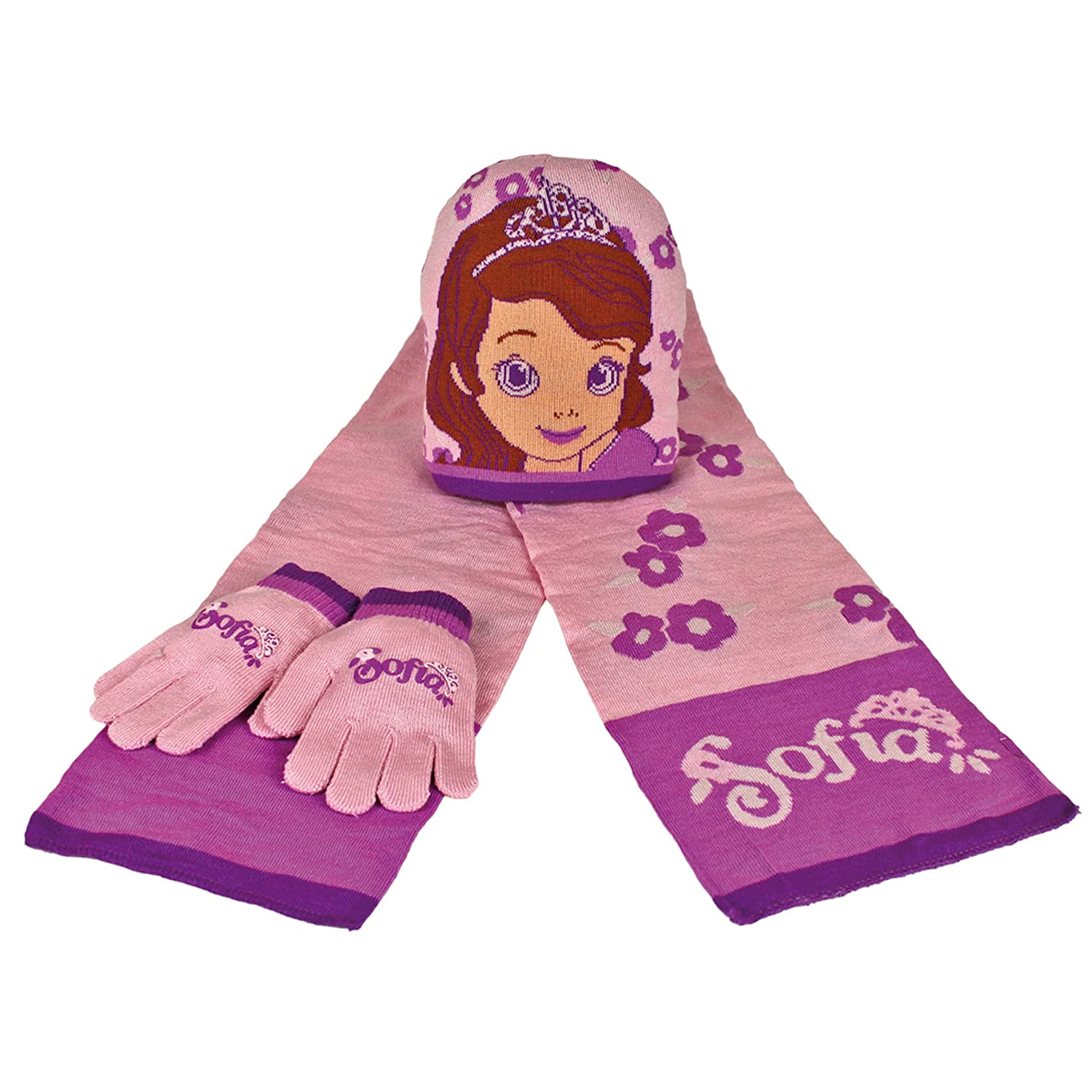 Disney Sofia The First Child/Girls Winter 3 Piece Scarf, Hat And Gloves Set 2200000347