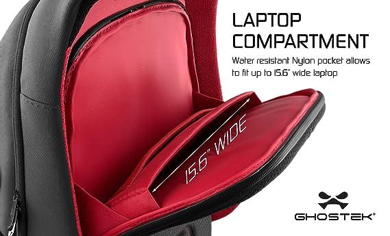 5161877f99e Amazon.com  Ghostek NRGbag Series Computer Laptop Messenger Backpack Book  Bag + Battery Power Bank   Water Resistant   7000mAh   Lightweight    Multipurpose ...