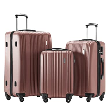 TBWYF Luggage Set 3 Piece Set Suitcase set Spinner Hard shell Lightweight…