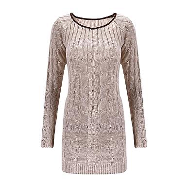 Strickkleid Pullover NEU Longpulli Sweater Kleid Größe 32 34 36 38 blau