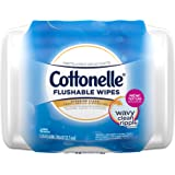 Cottonelle FreshCare Flushable Cleansing Cloths, 42 Count (Packaging May Vary)