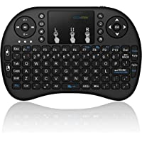 Mini Wireless Keyboard with Touchpad, 2.4Ghz Wireless Mini Handheld Remote Control Keyboard with Rechargeable Battery by…
