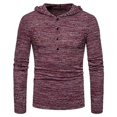 Herren Kapuzenpullover Hoodie Sweater Pullover Sweatshirt Warme Kapuzenjacke  Mantel Outwear Bluse Langarmshirt MäNner Gestrickte Top Langarm 1dbc106d24