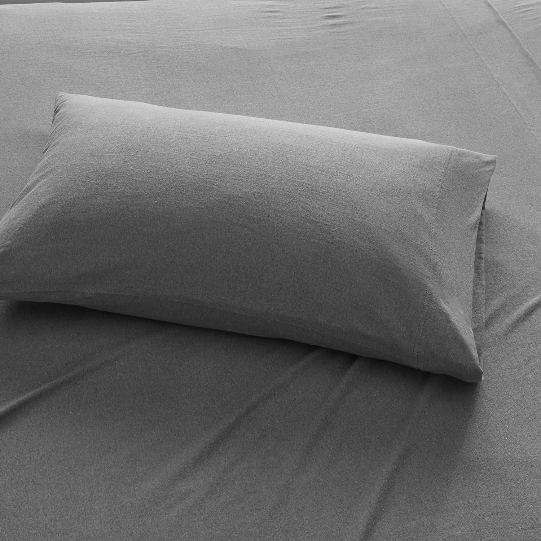 Urban Habitat Cold Weather Sheet Set Bedding 100% Cotton Ultra Soft, Full, Charcoal