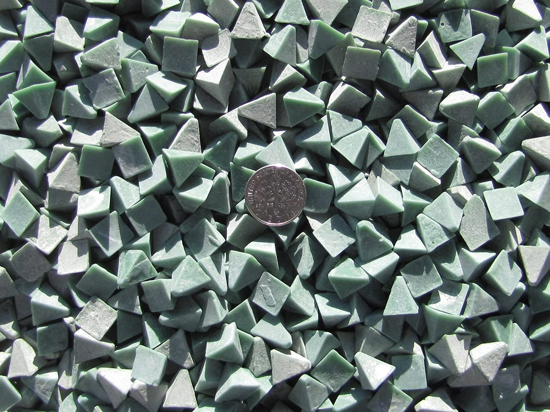 5 Lb General Purpose X 3//8 X 3//8 Pyramid Plastic Tumbling Tumbler Tumble Dark Green Media