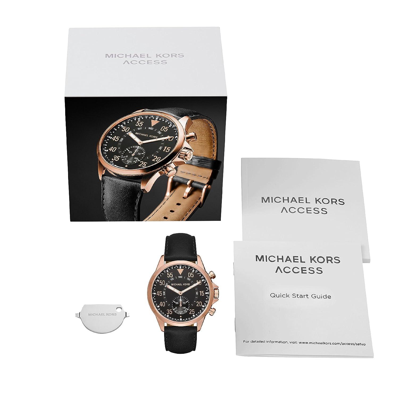 Amazon.com: Michael Kors Access MKT4007 Mens Gage Smartwatch ...