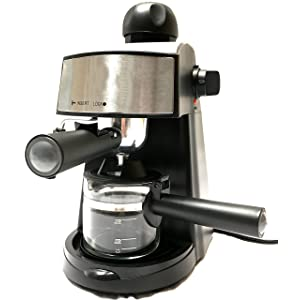Powerful steam Espresso and Cappuccino Maker Barista Express Machine Black - Make European Espresso
