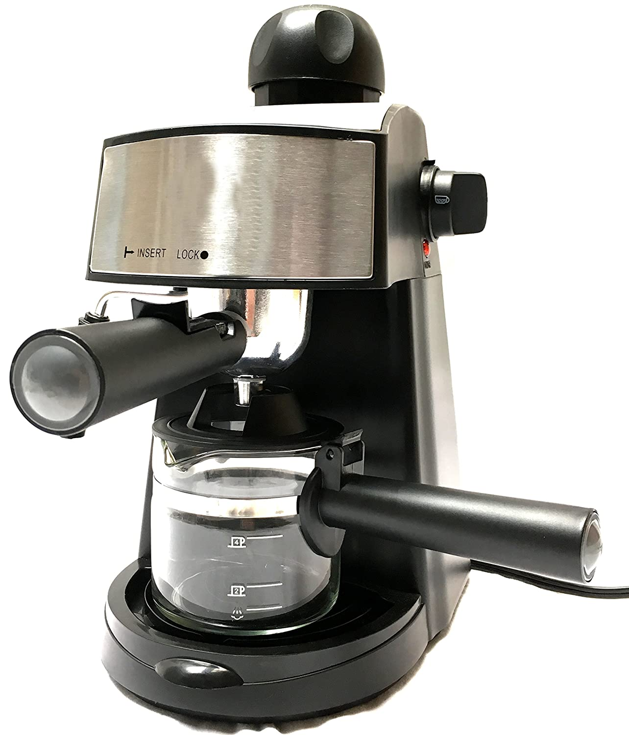 Powerful steam Espresso and Cappuccino Maker Barista Express Machine Black