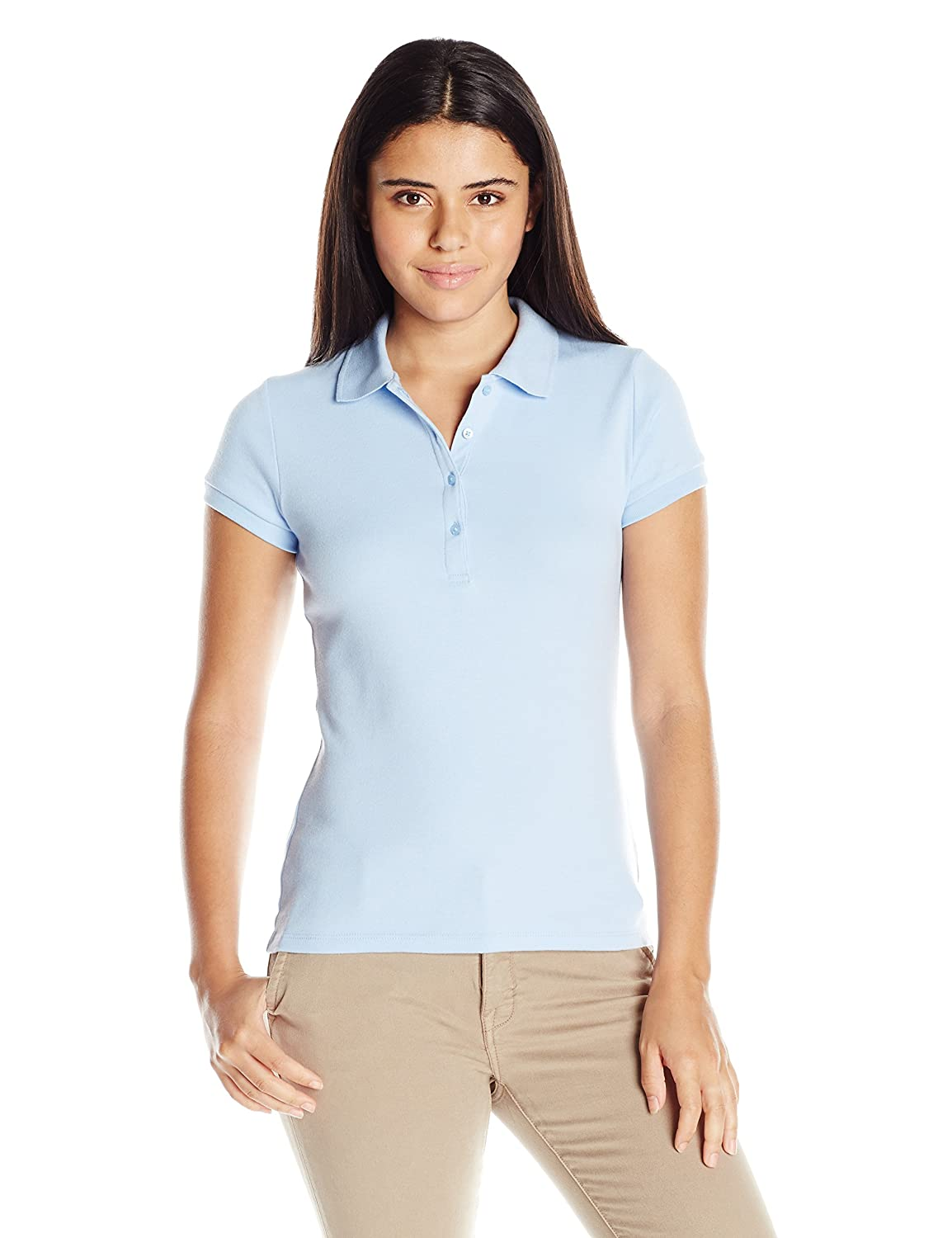 IZOD Junior's Uniform Short Sleeve Interlock Polo IZOD Juniors ZJA0058P