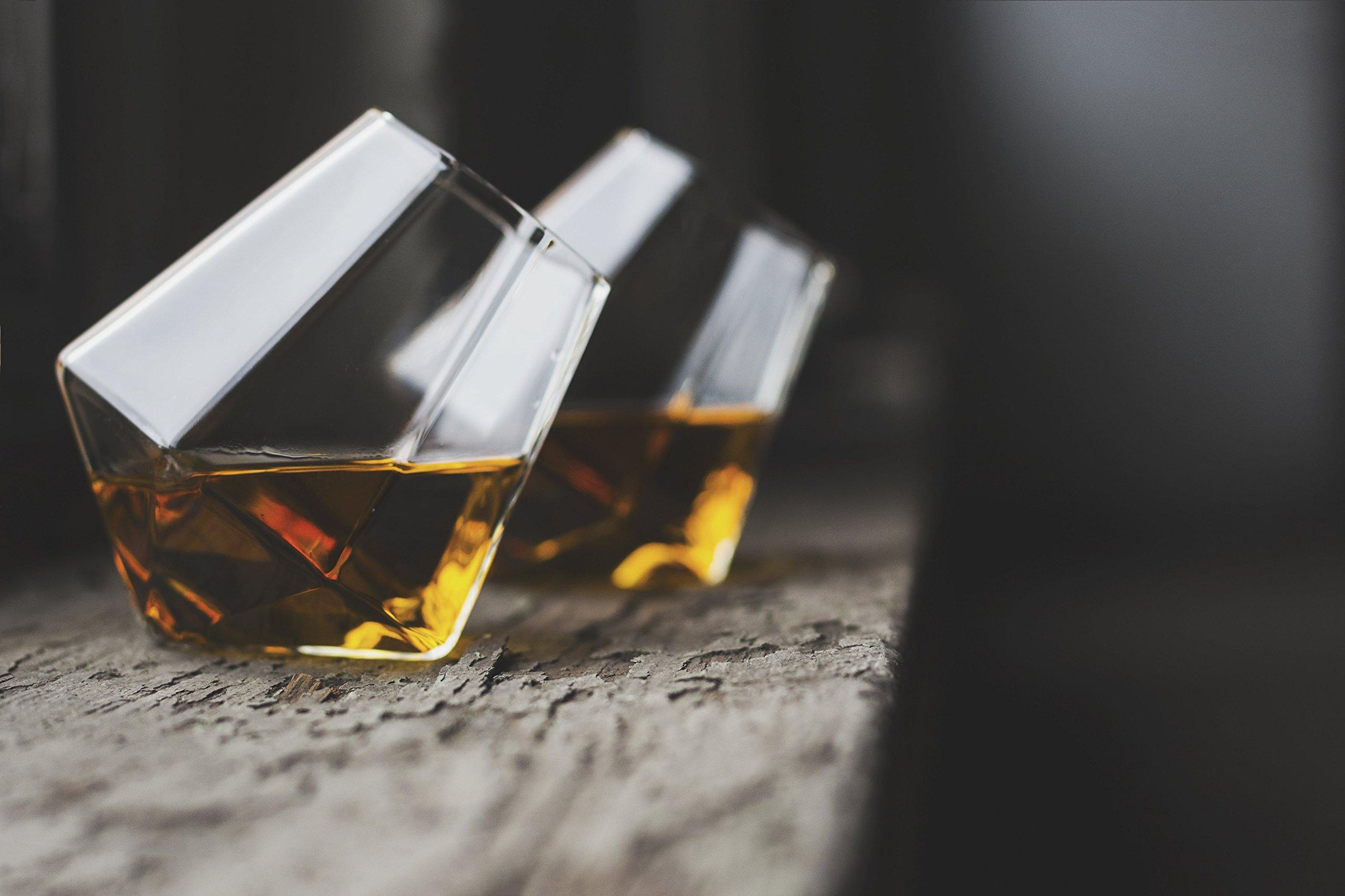 Dragon Glassware Diamond Whiskey Glasses, Premium Designer Tumblers for Spirits and Wine, 10-Ounces, Gift Boxed - Set of 4 by Dragon Glassware (Image #6)