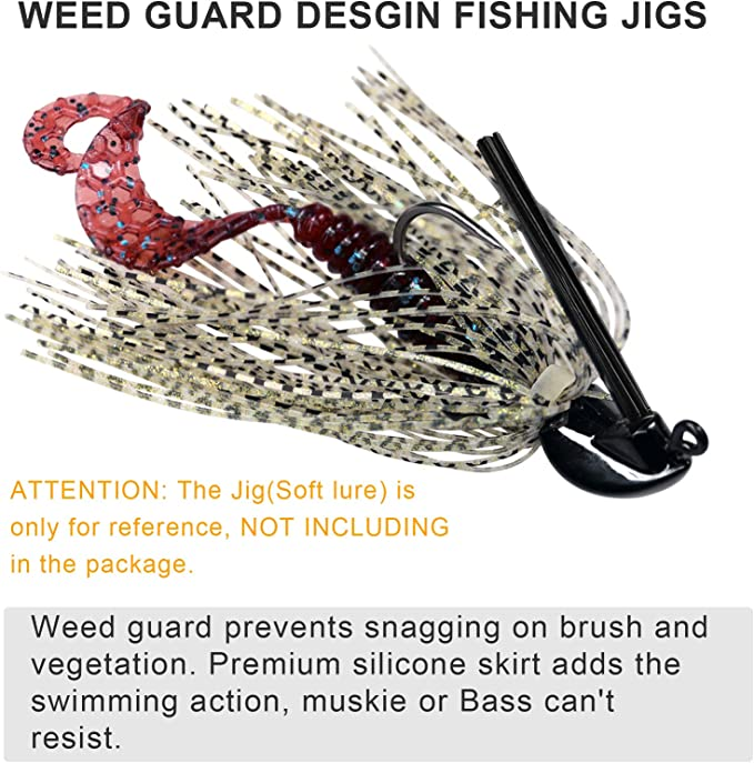 thkfish Fishing Lures Fishing Jigs Swim Jigs Fishing Jigs Bass Mix Color Metal Lead Fishing Jigs Kit 1//5oz 1//4oz 3//8oz 1//2oz 5pcs//10pcs