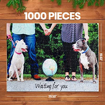 ifeolo 1000 Piece Personalized Custom Jigsaw Puzzle, Large Piece Personalized Custom Wooden Jigsaw Puzzle Personalized Photo Family Photo Wedding Photos 29.53x19.63 in: Toys & Games