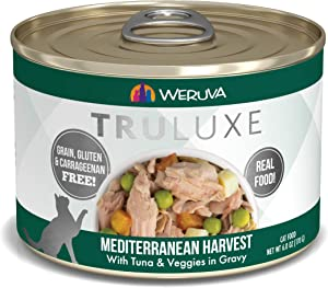 Weruva Truluxe Cat Food, Mediterranean Harvest With Tuna Whole Meat & Veggies In Gravy, 6Oz (Pack Of 24)