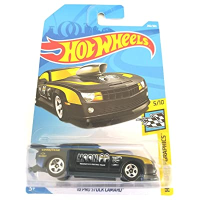Hot Wheels 2020 50th Anniversary '10 Pro Stock Camaro 202/365, Black: Toys & Games