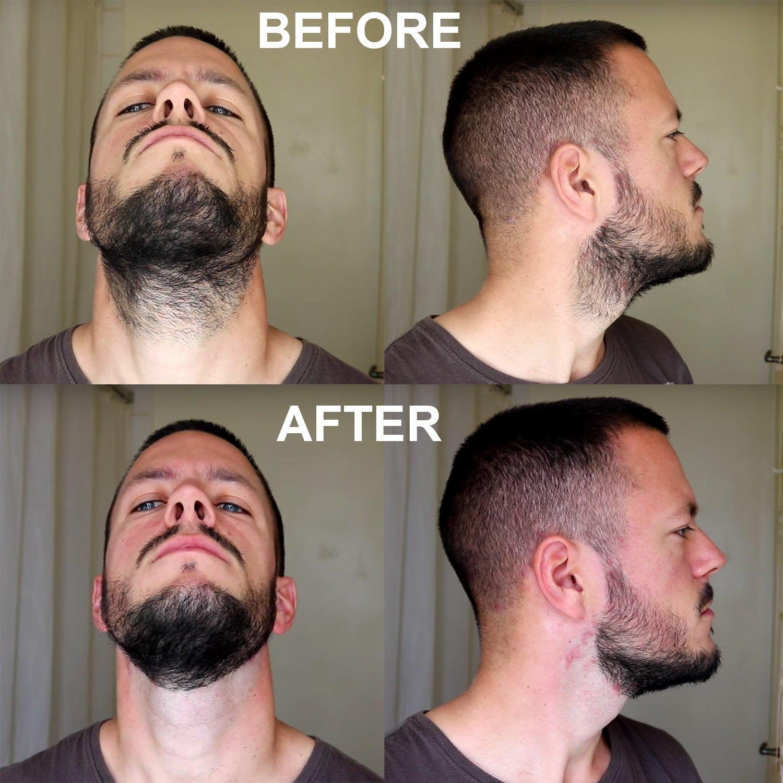 5pcs men symmetric cut goatee neck line beard grooming stencils.
