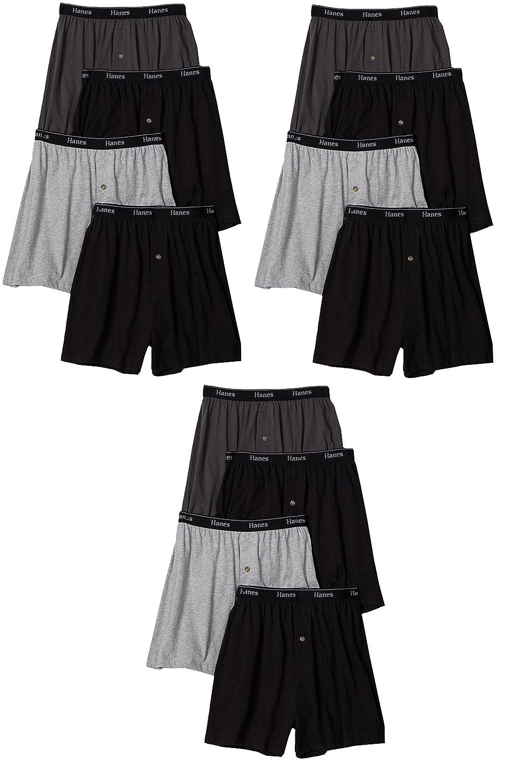 Hanes Ultimate Men's 4-Pack Classics Comfort Soft Waistband Knit Boxer Underwear 709P4
