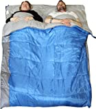 Redstone XL Double Sleeping Bag Converts into 2 Singles 400GSM 3-4 Season 210cm Length Camping Hiking