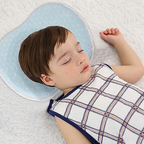 Amazon.com: Almohada con forma de cabeza de bebé, evita la ...