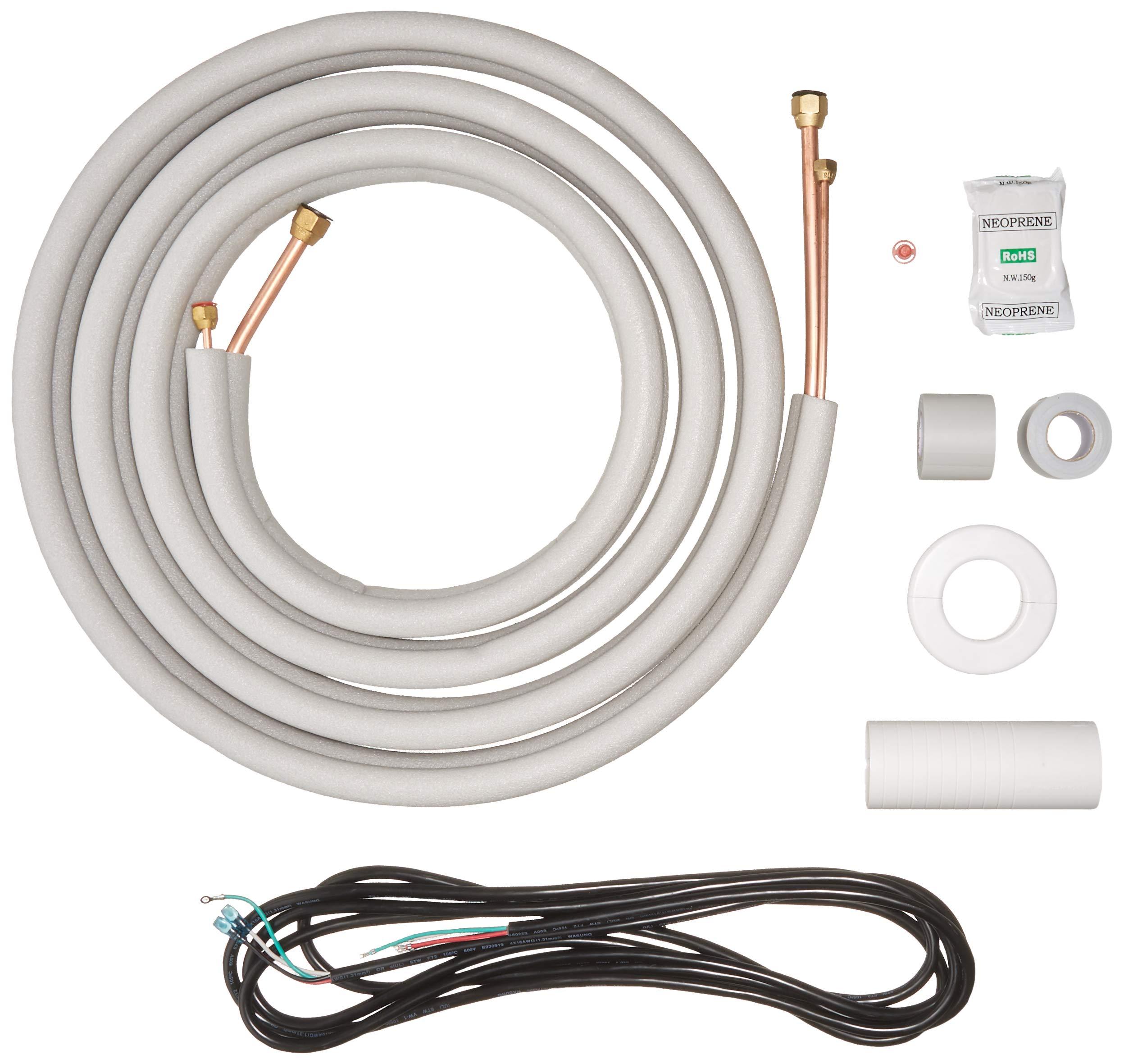 Senville 16 Ft. Copper Pipes for Mini Split Air Conditioner 1/2'' & 1/4'' OD White by Senville