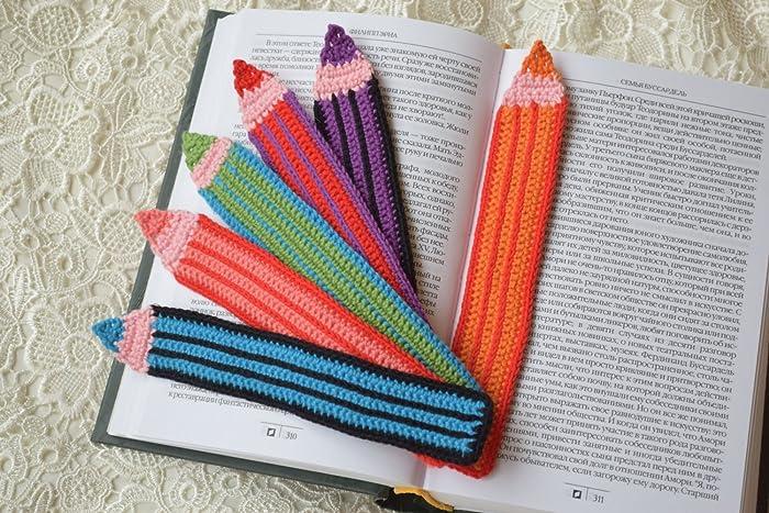 Häkeln Lesezeichen Buntstifte Gehäkelte Lesezeichen Handgefertigte