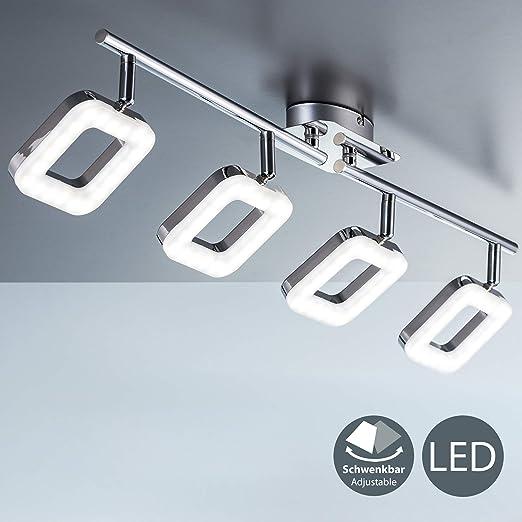 LED Design Decken Lampe Chrom Wohn Zimmer Strahler Kristall Spots verstellbar