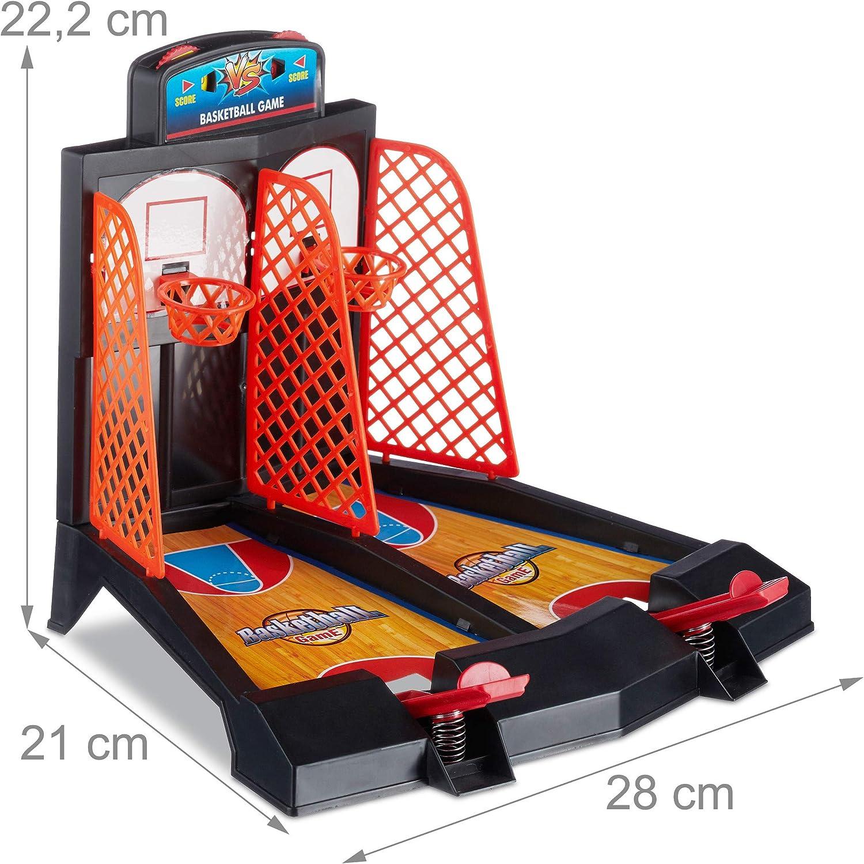 Relaxdays Juego de Baloncesto para Mesa, A Partir de 3 años, Mini ...