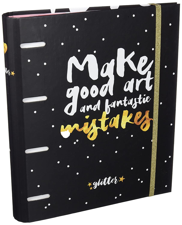 Grupo Erik Editores Glitter Stars - Carpeblock con 4 anillas, 32 x 27.5 cm: Amazon.es: Oficina y papelería