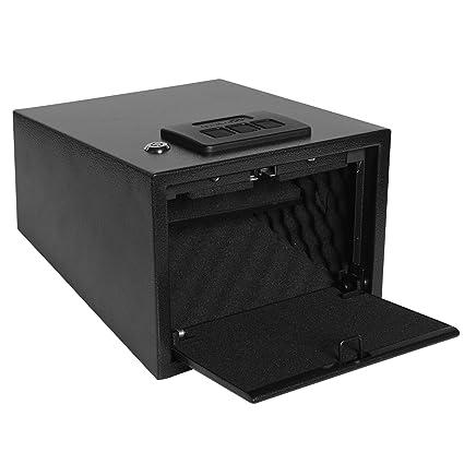 Ivation Quick Access Pop-Open Door Safe – Shelf-Mountable Gun Safe with  Digital Key Pad & 2 Emergency Keys