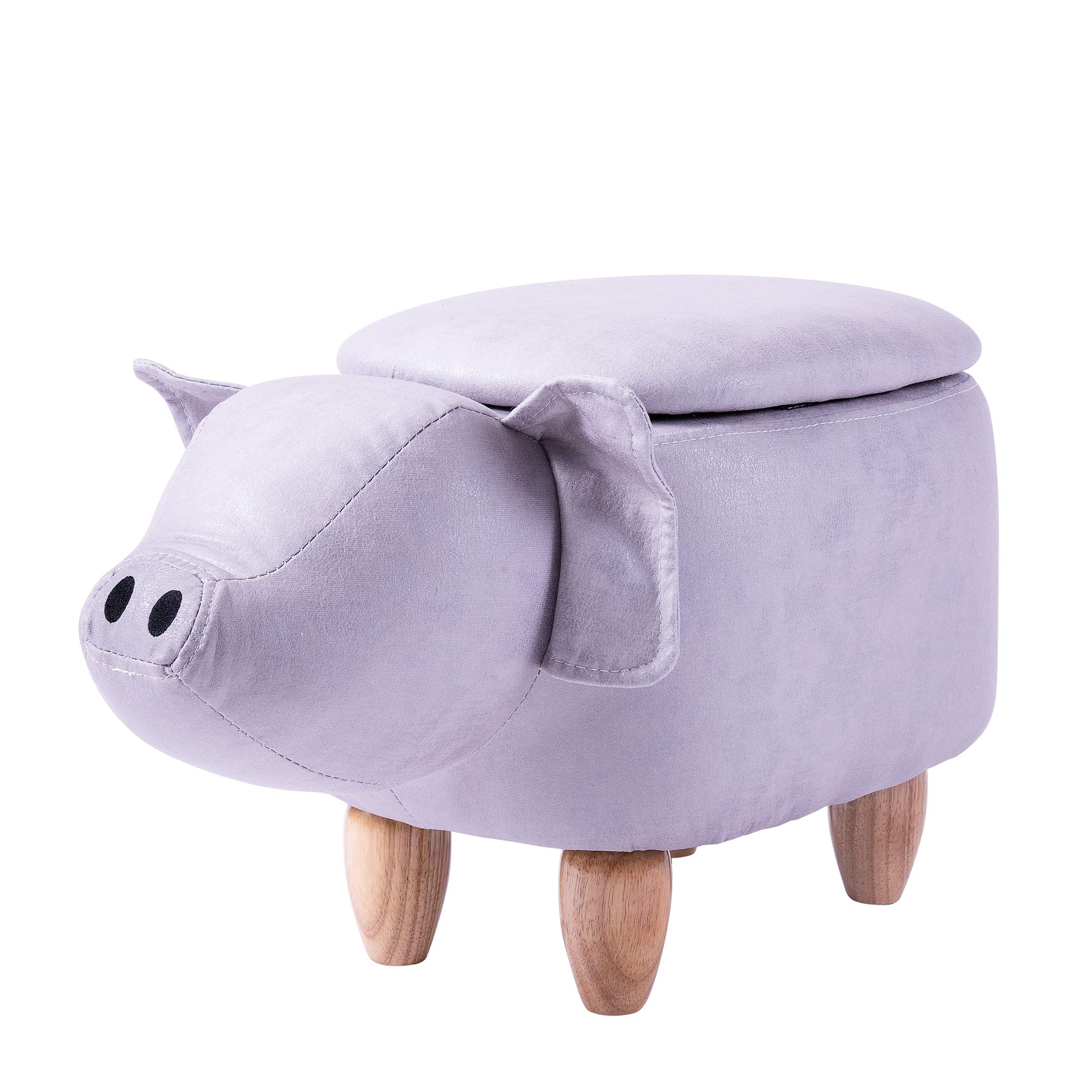 MIBOW Ottoman Funfair Series Upholstered Ride-on Storage Ottoman Footrest Stool with Animal Shape by MIBOW