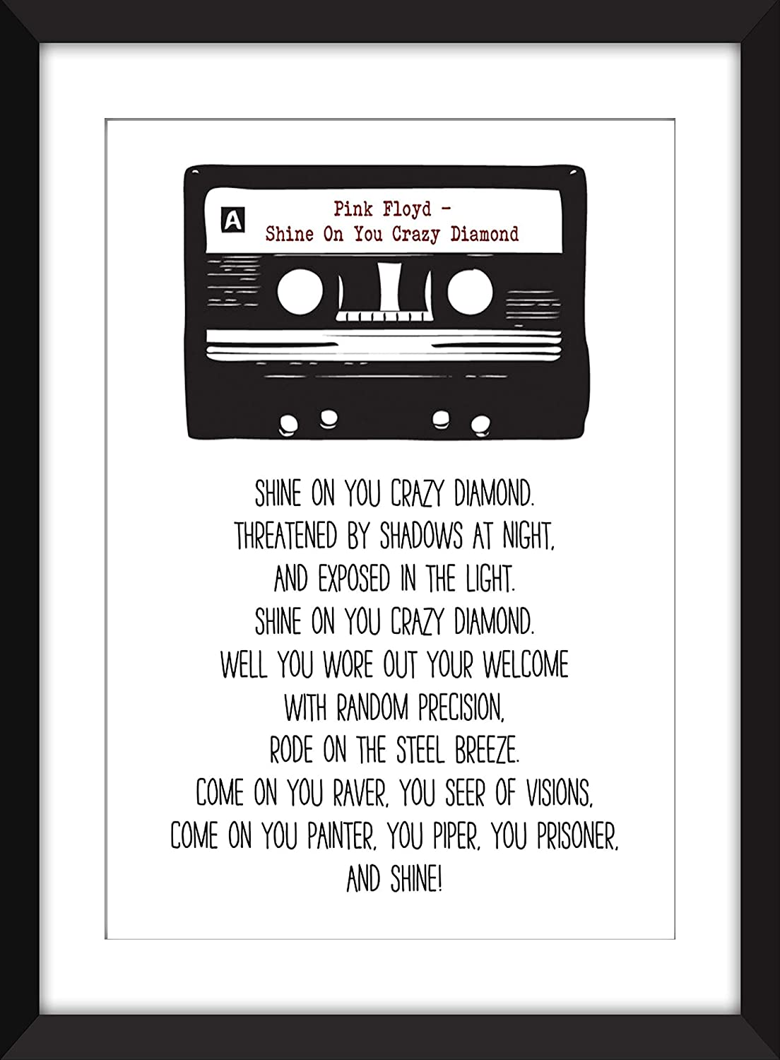 Let/'s Go Crazy Shadow Song Lyric Quote Print
