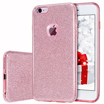 MILPROX iPhone 6s Plus Funda, Brillante Carcasa [Estructura ...