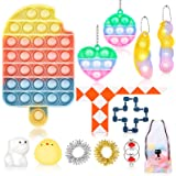 Fidget Toy Set, Cheap Sensory Toys Pack for Kids Adults, Fidget Box with Simple Dimple and Pop on it Toy, Squishy Stress…