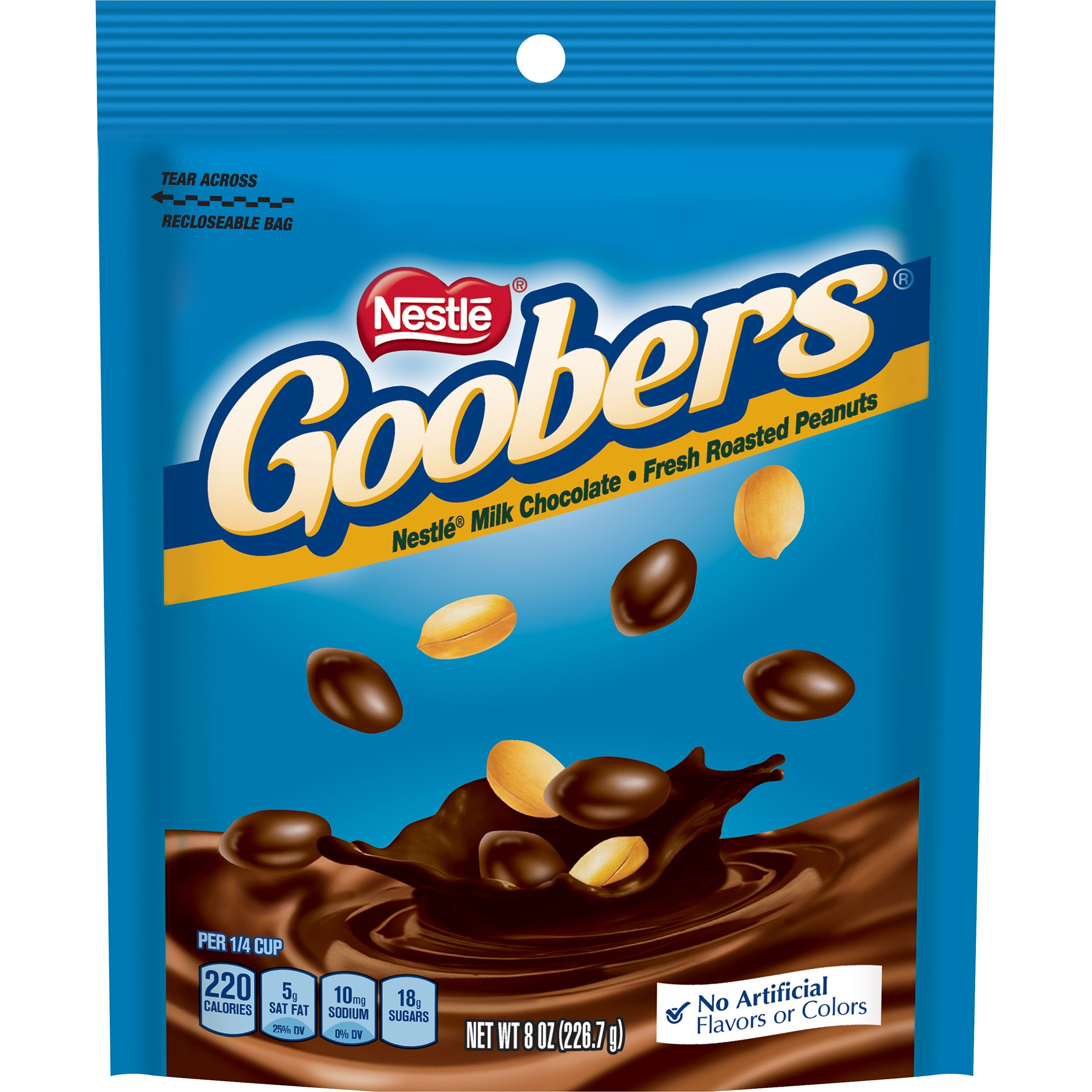 Goobers Stand Up Chocolate Bag, 8 Ounce