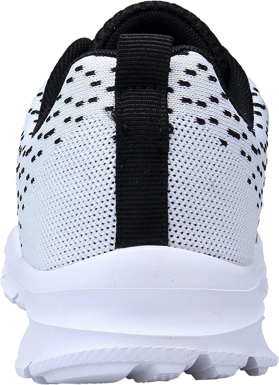 KOUDYEN Chaussures de Sport Course Homme Femme Basket Lacets Fitness Confortable Sneakers Trail Running Shoes,XZ746-W-blackwhite-EU40