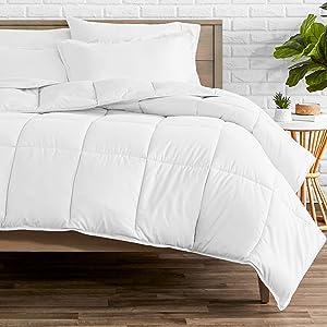 Bare Home Comforter Set - King/California King - Goose Down Alternative - Ultra-Soft - Premium 1800 Series - Hypoallergenic - All Season Breathable Warmth (King/Cal King, White)