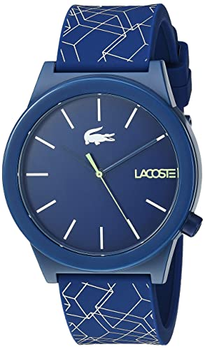 cb7fcb12b9 Lacoste Men's Motion Stainless Steel Quartz Watch with Silicone Strap,  Blue, 19.7 (Model: 2010957)