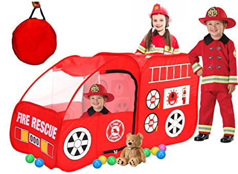 Kids Fire Truck Kids Play Tent Indoor Outdoor Pop Up Play Tent Pretend Vehicle for  sc 1 st  Amazon.com & Amazon.com: Kids Fire Truck Kids Play Tent Indoor Outdoor Pop Up ...